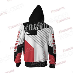 Fairy Tail Unisex Zip Up Hoodie Jacket Fullprinted Zip Up Hoodie - WackyTee
