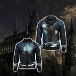 Dumbledore Harry Potter Unisex Zip Up Hoodie
