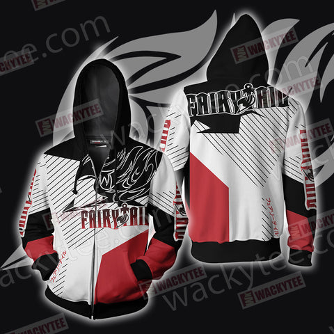 Fairy Tail Unisex Zip Up Hoodie Jacket US/EU XXS (ASIAN S) Fullprinted Zip Up Hoodie - WackyTee
