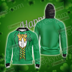 Leprechaun Costumes Saint Patricks Day Unisex Zip Up Hoodie