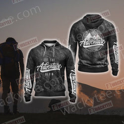Let The Adventure Begin Zip Up Hoodie