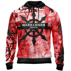 Warhammer 40,000 - Marks of Chaos Unisex Zip Up Hoodie Fullprinted Zip Up Hoodie - WackyTee