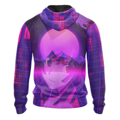 Just A Gamer Who Loves Anime And Waifus Unisex 3D Zip Up Hoodie Fullprinted Zip Up Hoodie - WackyTee