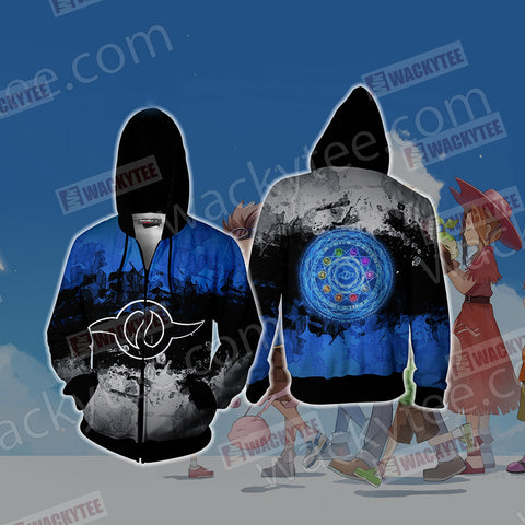 Digimon The Crest Of Friendship New Look Unisex Zip Up Hoodie Jacket US/EU XXS (ASIAN S) Fullprinted Zip Up Hoodie - WackyTee