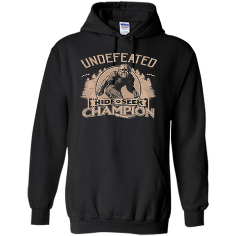 42930f5d Undefeated Hide Seek Champion T-shirt Black / S Pullover Hoodie 8 oz -  WackyTee