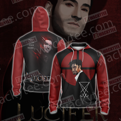 Lucifer New Version Unisex Zip Up Hoodie Jacket Fullprinted Zip Up Hoodie - WackyTee