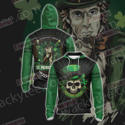 Everyone's Irish Saint Patricks Day Unisex Zip Up Hoodie