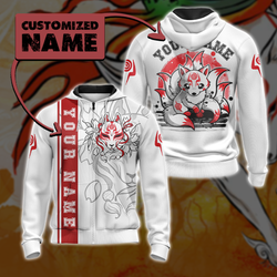 Ninetail fox Spirit - Customized New Unisex 3D Zip Up Hoodie