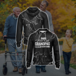 Dads Know A Lot Grandpas Know Everything Unisex Zip Up Hoodie