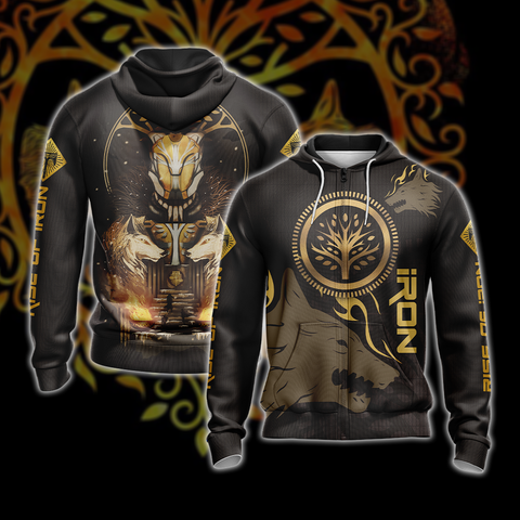 Destiny: Rise of Iron Unisex Zip Up Hoodie US/EU XXS (ASIAN S) Fullprinted Zip Up Hoodie - WackyTee