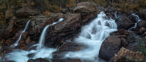 Autumn RMNP Waterfall Pano