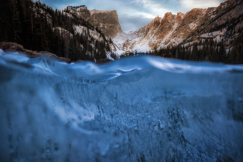 Below the Ice of Dream Lake