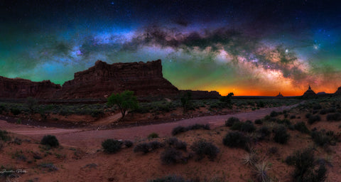 Utah Pano Milky Way