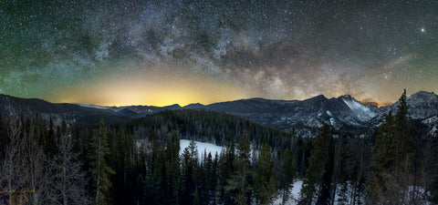 Milky Way Over Longs Peak Pano