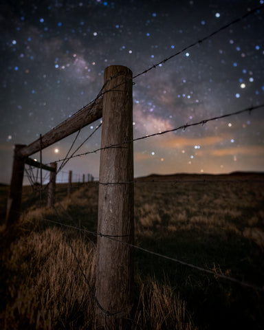 Milky Way Barb Wire Bokeh