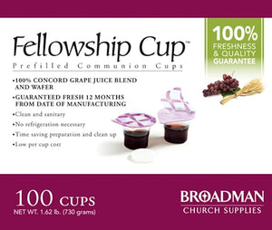 Holy Communion - Fellowship Cup Prefilled Juice/Wafer (Box Of 100)