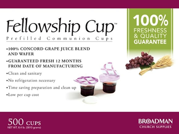 Holy Communion - Fellowship Cup Prefilled Juice/Wafer (Box Of 500)