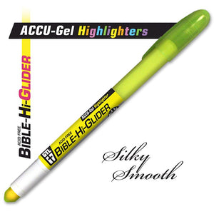 Gel Bible Hi Glider Highlighter Yellow - Package of 12