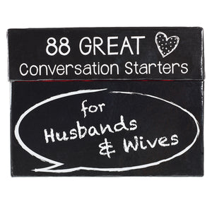 88 Great Conversation Starters For Husbands and Wives