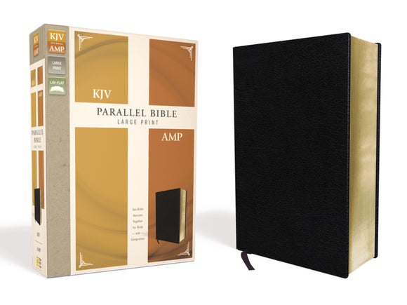 KJV/Amplified Parallel Bible/Large Print-Black Bonded Leather: Two Bible Versions Together For Study And Comparison
