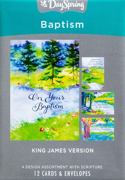 KJV Baptism - Special Step Of Faith Boxed Cards