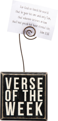 Verse Of The Week Block