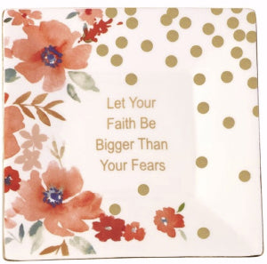Let Your Faith Be Bigger Ceramic Trinket Tray