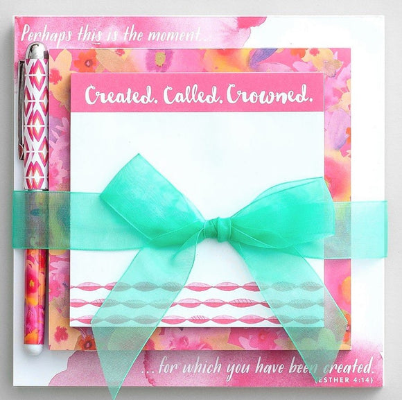 Created, Called, and Crowned Memo Gift Set
