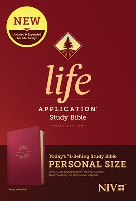NIV Life Application Study Bible, Third Edition, Personal Size (Leatherlike, Berry) by Tyndale