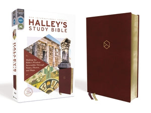 Niv, Halley's Study Bible, Leathersoft, Burgundy, Red Letter Edition, Comfort Print: Making the Bible's Wisdom Accessible Through Notes, Photos, and M by Halley, Henry H.