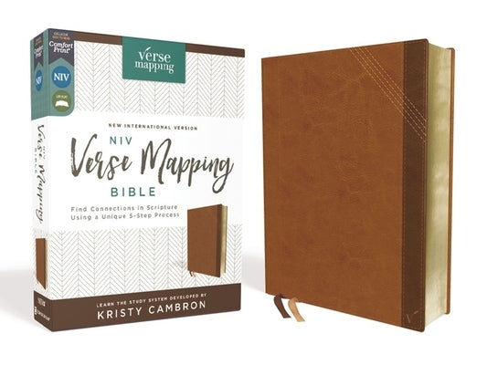 NIV, Verse Mapping Bible, Leathersoft, Brown, Comfort Print: Find Connections in Scripture Using a Unique 5-Step Process by Cambron, Kristy