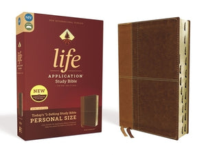 Niv, Life Application Study Bible, Third Edition, Personal Size, Leathersoft, Brown, Indexed, Red Letter Edition by Zondervan