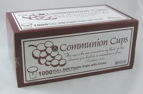Swanson Communion Cups Clear with Cross 1 3/8 1000 CT by Swanson Christian Products