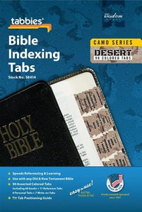 Camo Desert Bible Indexing Tab: Desert Camo Bible Tabs by Tabbies