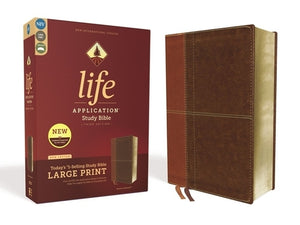 Niv, Life Application Study Bible, Third Edition, Large Print, Leathersoft, Brown, Red Letter Edition by Zondervan