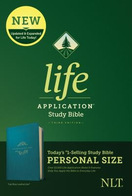 NLT Life Application Study Bible, Third Edition, Personal Size (Leatherlike, Teal Blue)