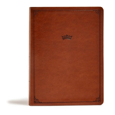 CSB Tony Evans Study Bible, British Tan Leathertouch(r), Black Letter, Study Notes and Commentary, Articles, Videos, Ribbon Marker, Sewn Binding, Easy by Evans, Tony