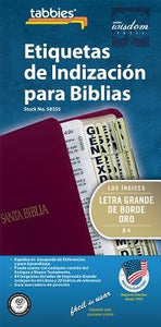 Spa-Spanish LP Bible Index Tab: Large Print Gold-Edged Bible Tabs by Tabbies