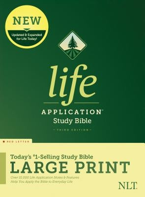 NLT Life Application Study Bible, Third Edition, Large Print (Red Letter, Hardcover)