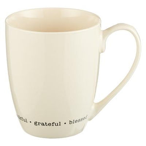 Mug Thankful Grateful Blessed Mug Thankful Grateful Blessed by Christian Art Gifts