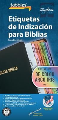 Spa-Spanish Rainbow Bible Inde: Spanish Rainbow Bible Tabs by Tabbies
