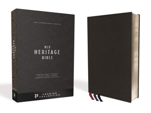 NIV, Heritage Bible, Deluxe Single-Column, Premium Leather, Black, Sterling Edition, Comfort Print by Zondervan