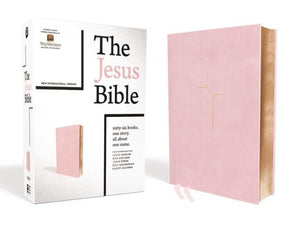 The Jesus Bible, NIV Edition, Leathersoft Over Board, Pink, Indexed, Comfort Print by Passion