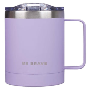 Mug Stainless Steel Camp Be Brave by Christian Art Gifts
