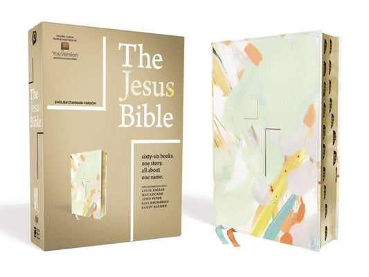 The Jesus Bible, ESV Edition, Leathersoft, Multi-Color/Teal, Indexed by Passion