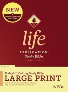 NIV Life Application Study Bible, Third Edition, Large Print (Red Letter, Hardcover) by Tyndale