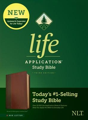 NLT Life Application Study Bible, Third Edition (Red Letter, Leatherlike, Brown/Tan) by Tyndale