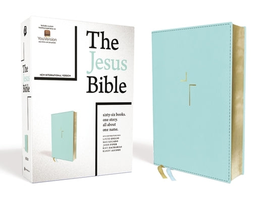 The Jesus Bible, NIV Edition, Leathersoft, Blue, Comfort Print by Passion
