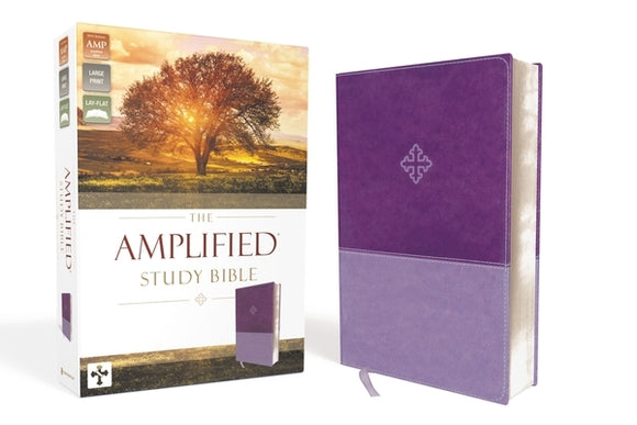 Amplified Study Bible, Imitation Leather, Purple by Zondervan