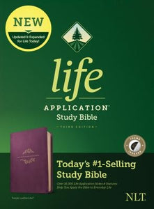 NLT Life Application Study Bible, Third Edition (Leatherlike, Purple, Indexed) by Tyndale